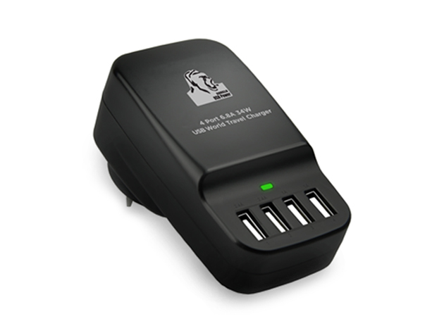 Gorilla Power 4-Port USB World Travel Charger