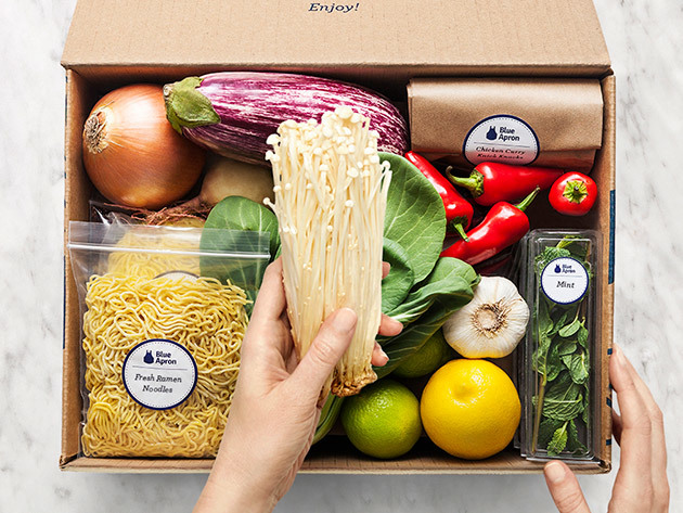 Blue Apron 2-Person Weekly Plan with Three Delivered Meals