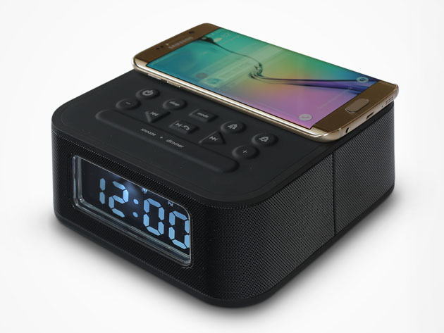 DreamQi Dual Bluetooth Alarm Clock & Wireless Phone Charger