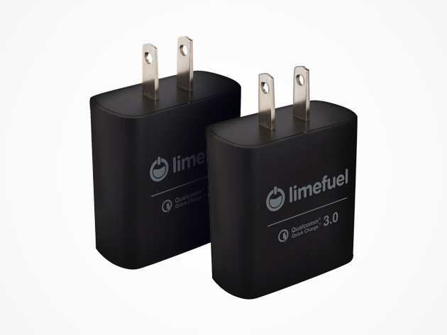 Qualcomm Quick Charge 3.0 Wall Charger: 2-Pack