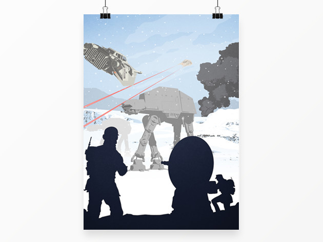 Star Wars Art: Snowy Walker Attack Poster