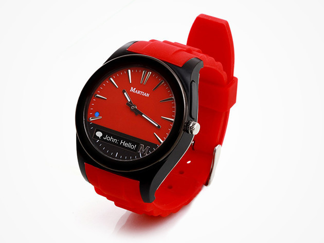 Martian Notifier Smartwatch (Red)