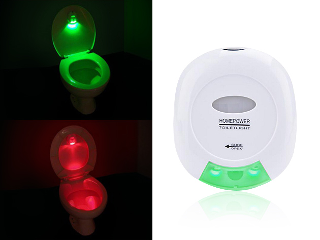 Motion-Activated LED Toilet Light for $11